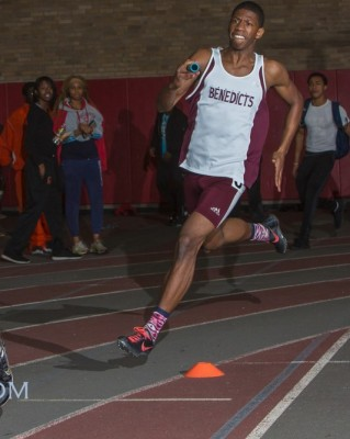 Jared Lampley carried the team on his back, helping his team score in the 4x200 and SMR relays.