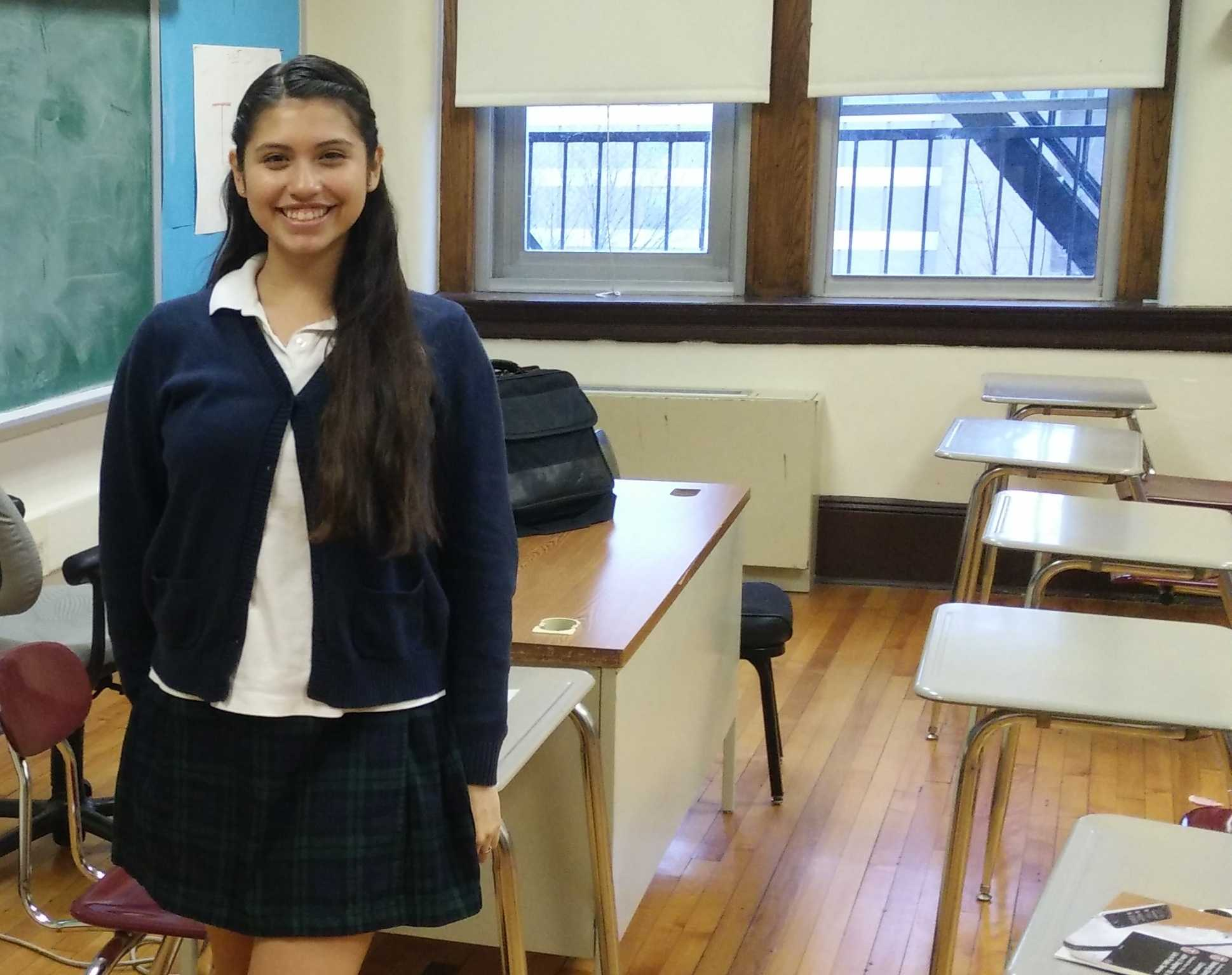 Sarai Roman is a junior at Benedictine Academy in Elizabeth, NJ.
