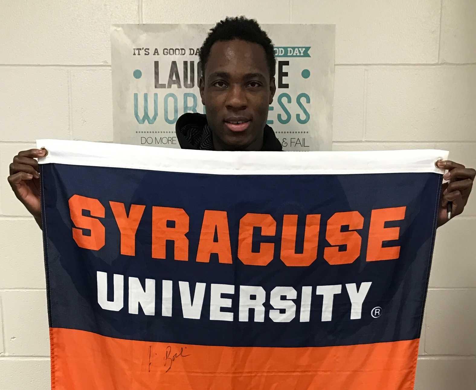 Senior Bourama Sidibe taking pride in his future alma mater, Syracuse University