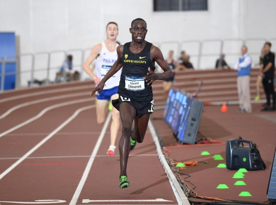 Edward+Cheserek%2713+crossing+the+line+in+the+5000-meter+run+to+earn+his+16th+NCAA+title