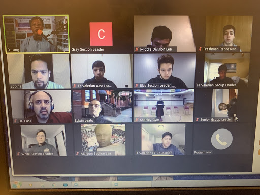 Screen display of SBPs virtual Convo from Wed., April 29, 2020