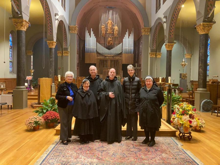 A number of monks and nuns from the St. Benedict's community attended Br. Francis profession ceremony.
