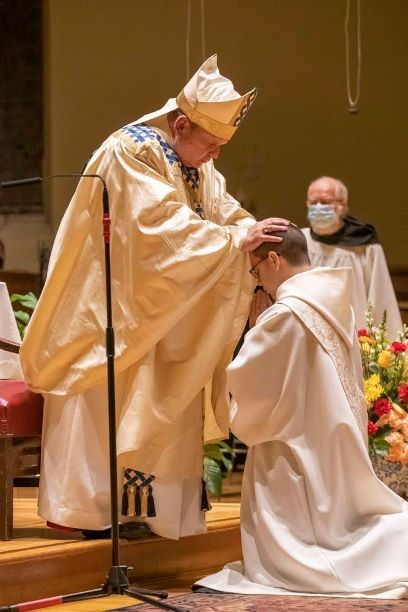 Asiel Maria Rodriguez, a Benedictine monk of Newark Abbey, is ordained a priest by the Most Rev. Manuel Cruz, Auxiliary Bishop of the Archdiocese of Newark.