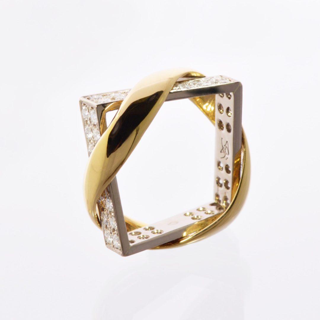 Bague Union XL Quatre Faces Diamants