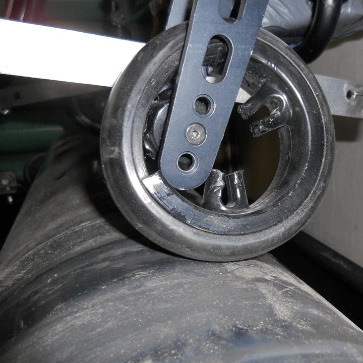 broken caster on drum tester