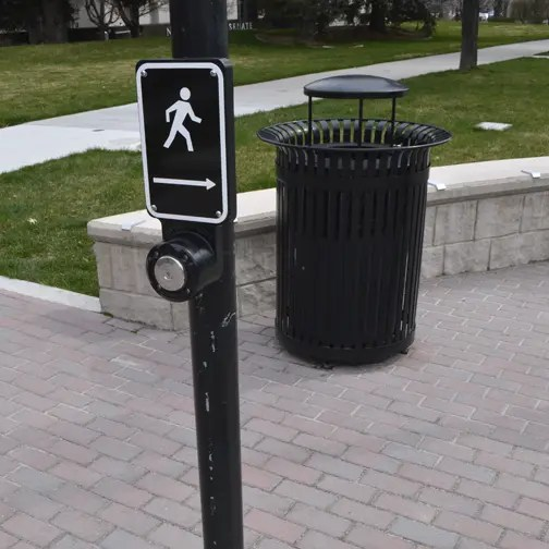 multiple features at a crosswalk