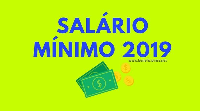 salario minimo 2019