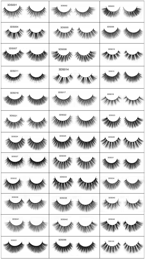 3D silk lashes catalog