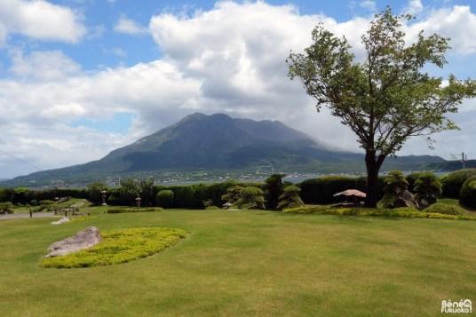 Sakurajima depuis le jardin Senganen