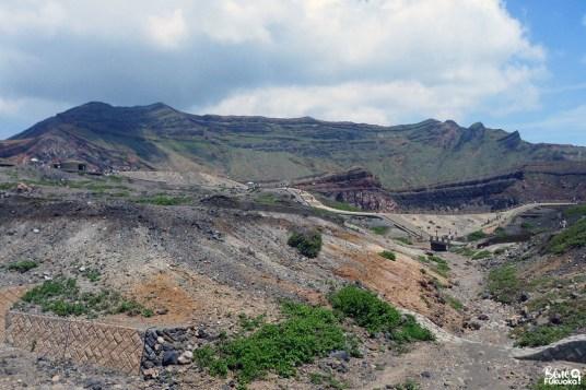 Le cratère Naka-dake et le sommet du mont Aso, Kumamoto