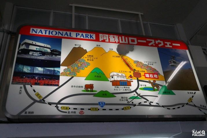 Le téléphérique du mont Aso, Kumamoto
