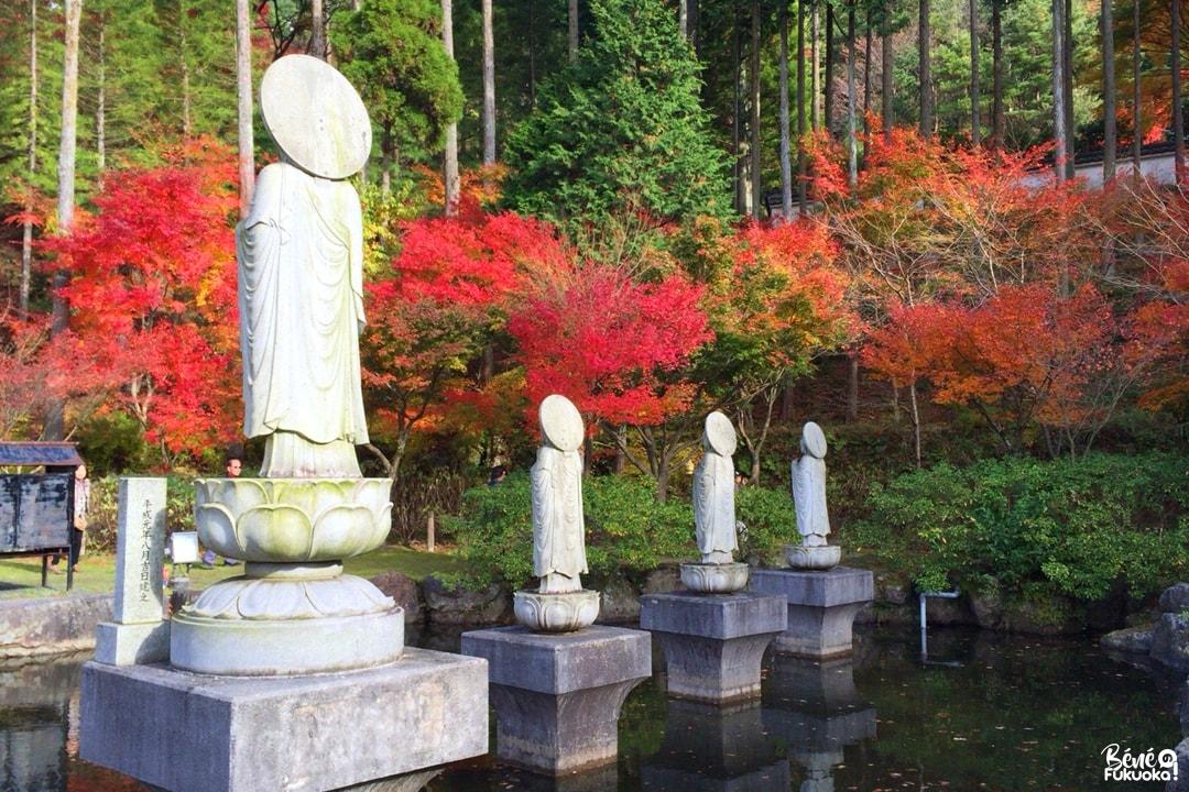 Roku Jizô ike et momiji, temple Nomiyama Kannon-ji, Fukuoka