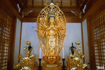 Statue de Kannon, temple Nomiyama Kannon-ji, Fukuoka