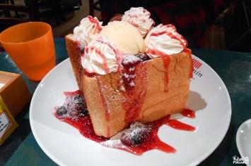 Honey toast aux fruits des bois, Moomin Cafe, Fukuoka