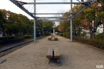 Quai de la gare désaffectée de Shime, Fukuoka