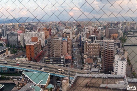 Vue depuis Hakata Port Tower, Fukuoka