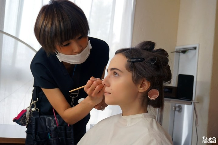Ma séance photo en kimono : le maquillage