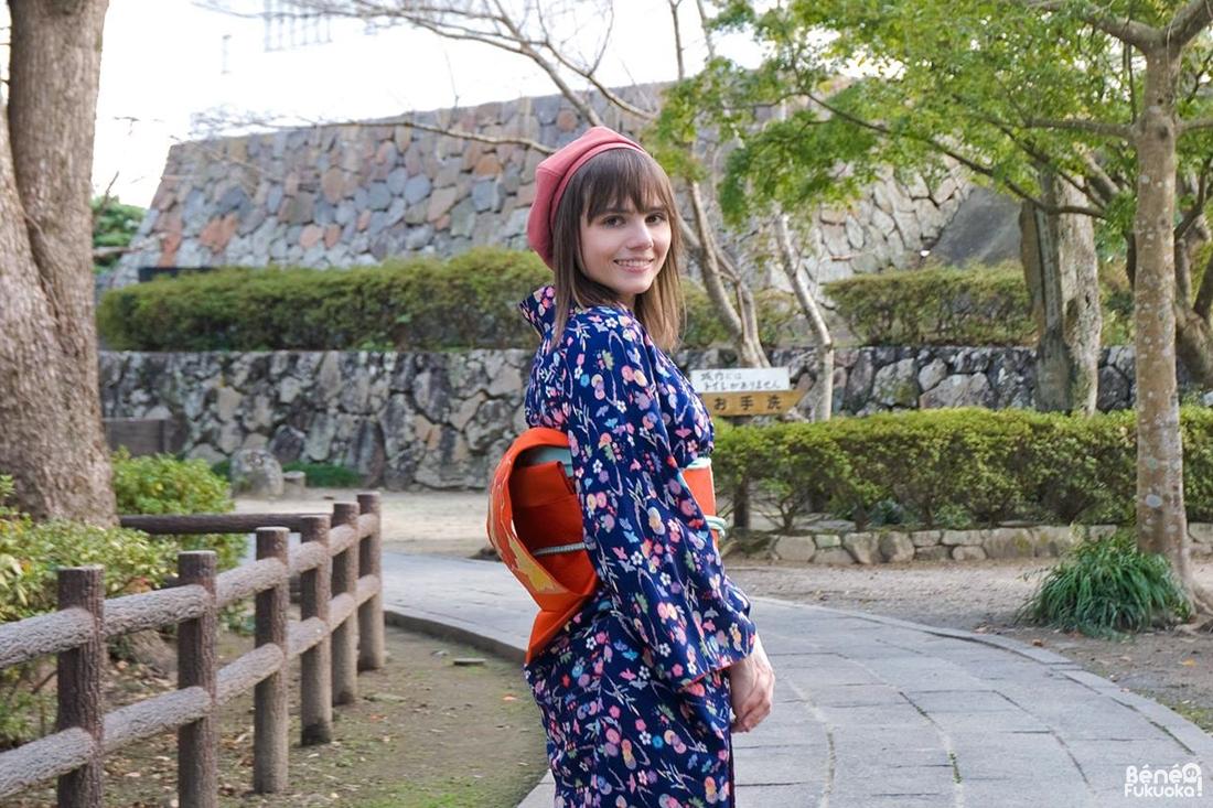 Se promener en kimono à Kitsuki, Ôita