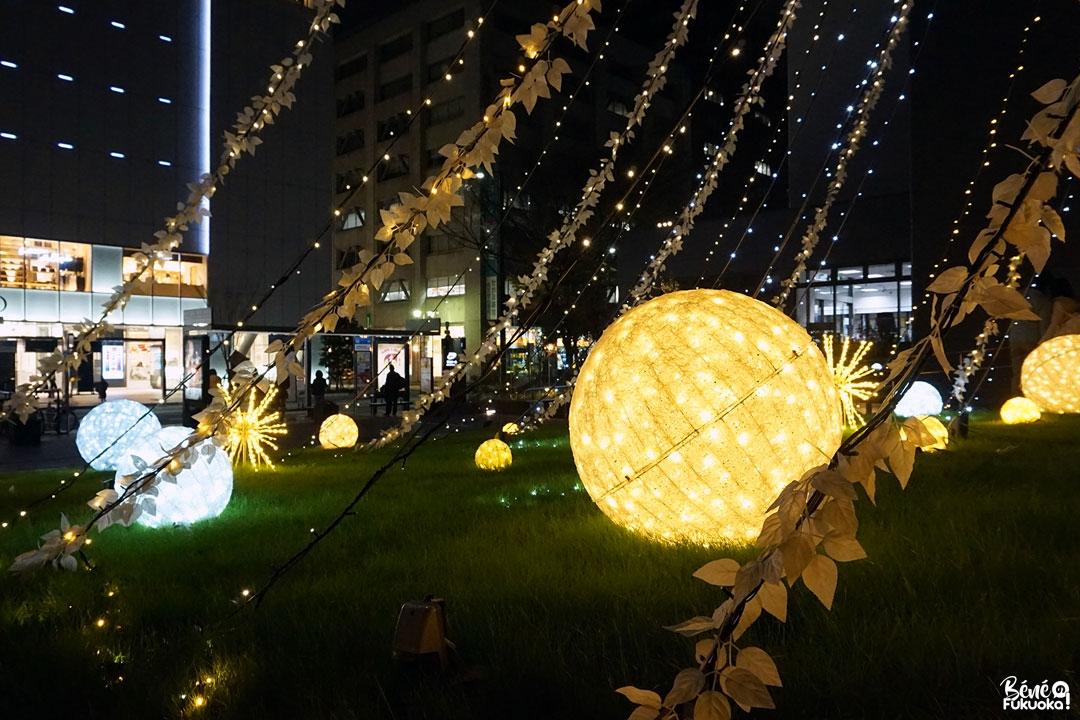 Les illuminations de Tenjin Fukuoka