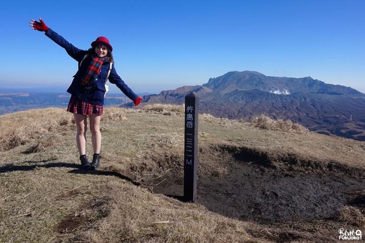 Sommet du mont Kishima (Kijima), Mont Aso, Kumamoto