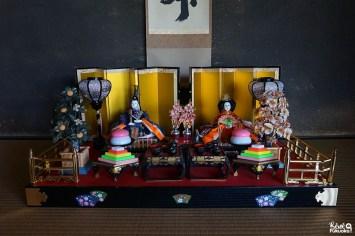 Poupées pour le Hina matsuri au jardin Shôfû-en, Fukuoka
