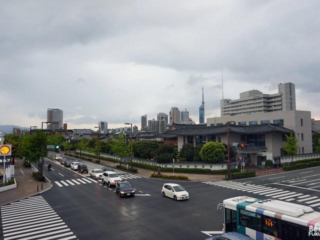 Fukuoka sous les nuages