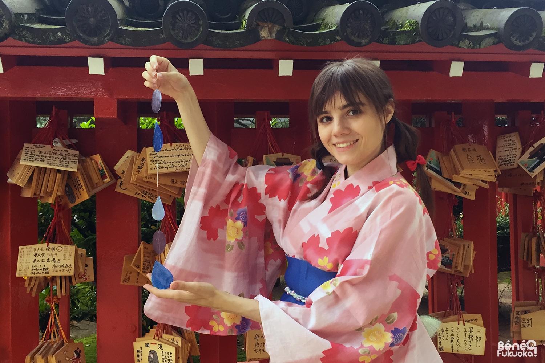 Fukuoka Kimono Walk - juin 2016, sanctuaire Hakozaki