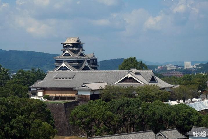 Château de Kumamoto vu depuis la mairie de la ville, Kumamoto