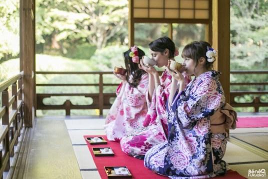 Cérémonie du thé, Fukuoka Kimono Walk