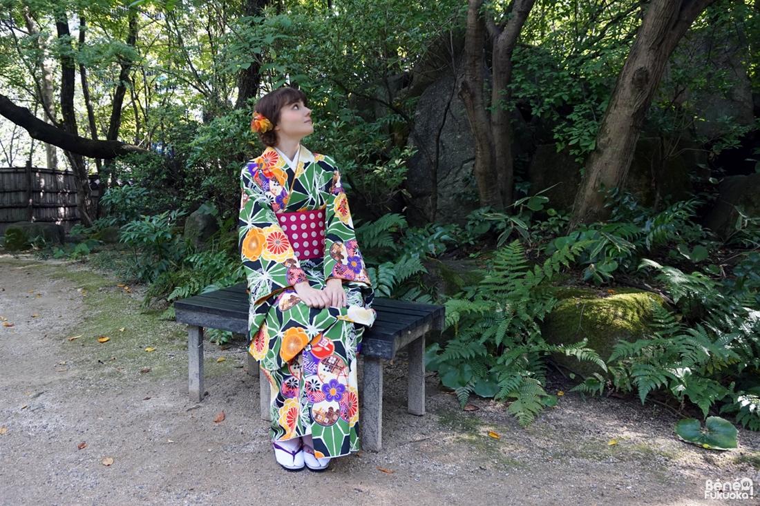 Fukuoka Kimono Walk #10 - Rakusuien