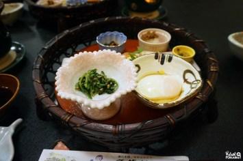 Petit-déjeuner au ryokan Yumerindo, Kurokawa onsen, Kumamoto