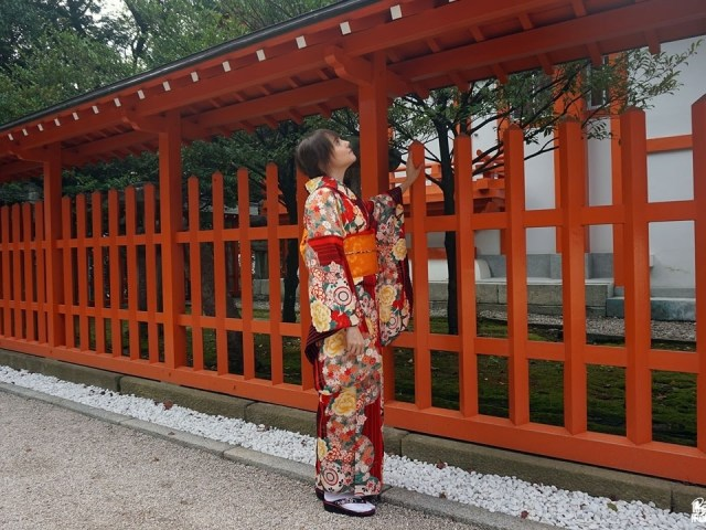 Fukuoka Kimono Walk #11 – Momiji Hachimangû