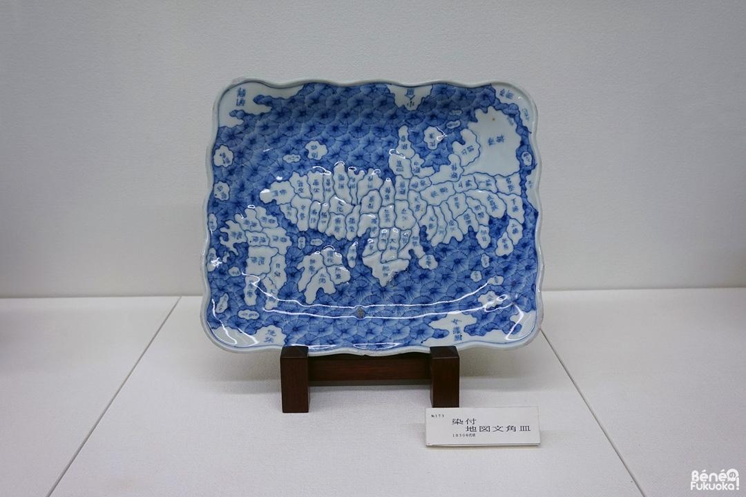 Une porcelaine du 19ème siècle représentant l'ancien découpage régional du Japon