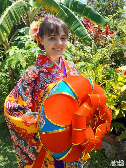 "En kimono d'Okinawa ""ryûsô"", Miyakojima"