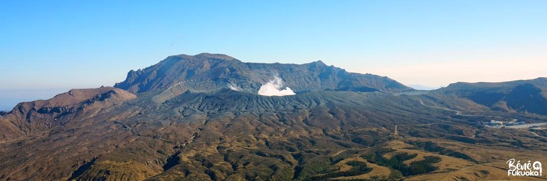 Le mont Aso en éruption, Kumamoto