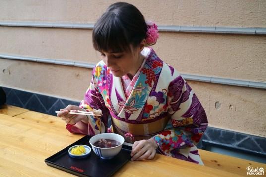 Goûter au café Kawabata Zenzai, Fukuoka