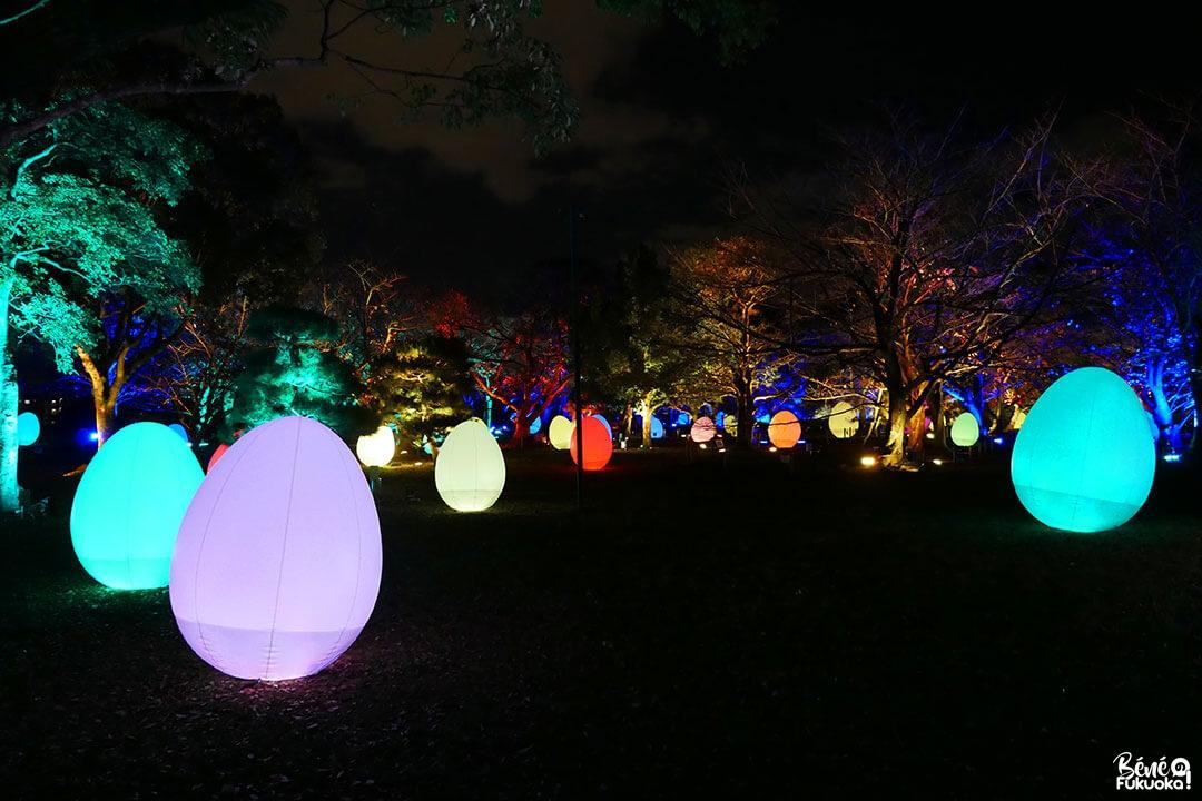 Exposition teamlab au château de Fukuoka