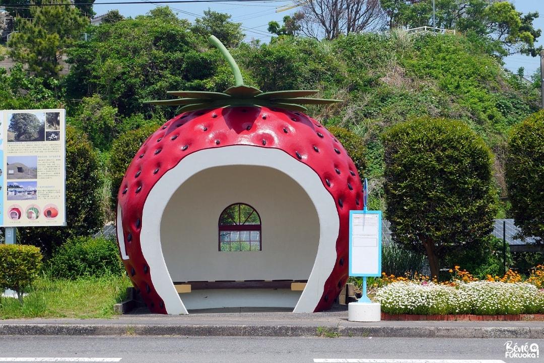 Abribus fraise, Isahaya, Nagasaki