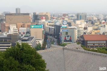 Ville de Kumamoto depuis le château de Kumamoto