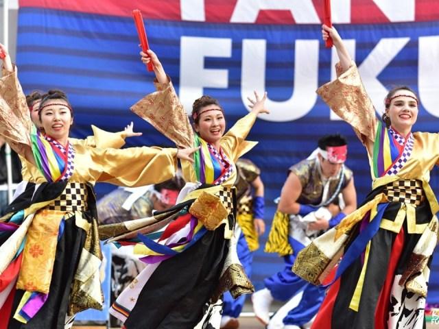 Yosakoi au coeur de l'été – le Sanoyoi Fire Carnival