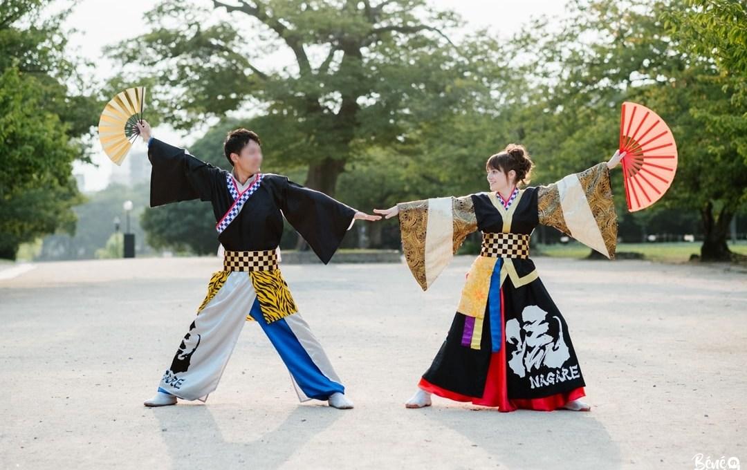 Notre séance engagement sur fond de yosakoi