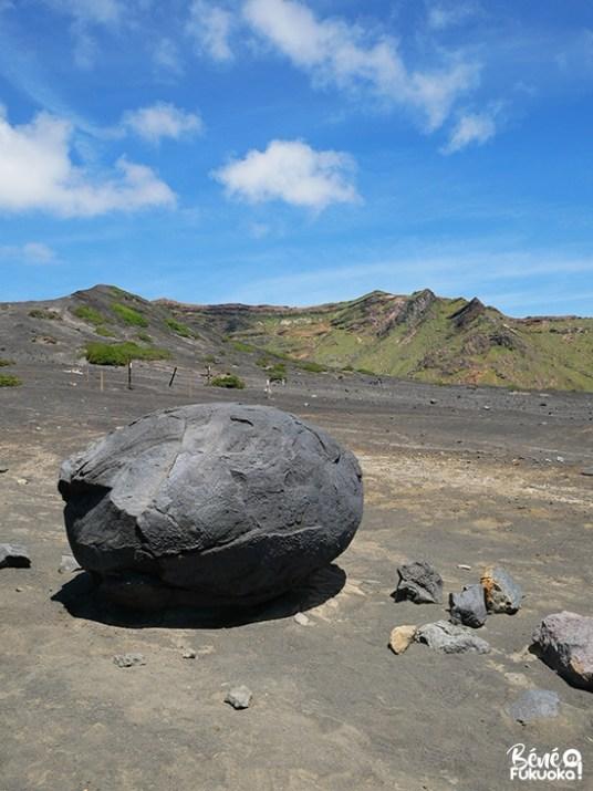Bombe volcanique, mont Aso, Kumamoto