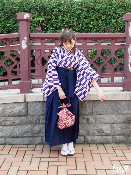 Béné no Fukuoka, blogueuse Japon en kimono, Mojikô, Fukuoka