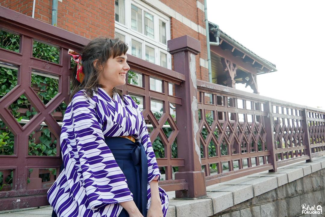 Location kimono à Mojikô, ville de Kita-Kyûshû, Fukuoka