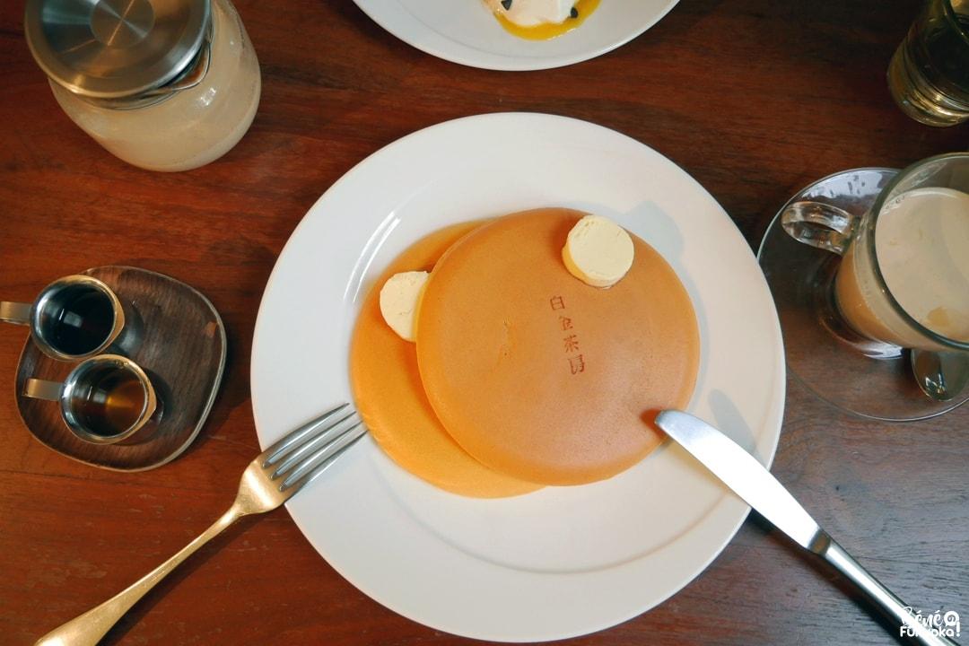 Pancakes parfait du restaurant Shirogane Sabo, Fukuoka