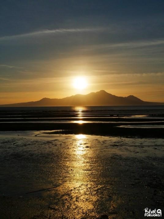 Coucher de soleil sur la baie de Shimabara, Kumamoto