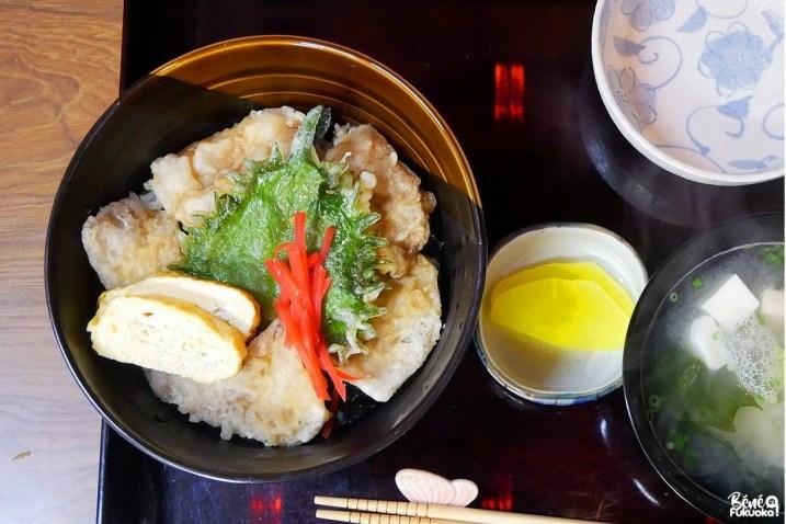 Plat Unzen-don, restaurant Bun no Ji, Unzen