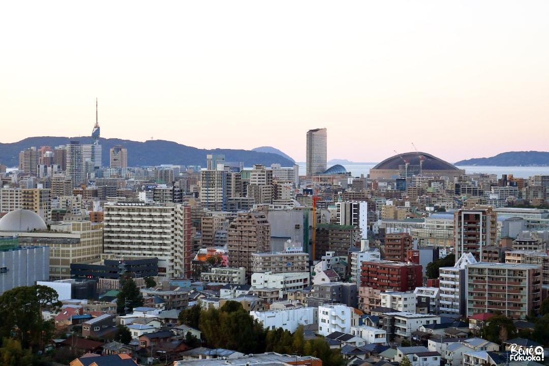 Vue sur Fukuoka depuis le parc Minami