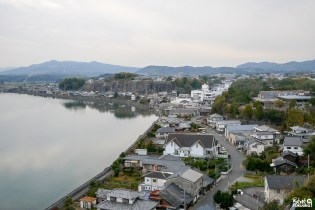 Vue depuis le château de Kitsuki, préfecture d'Ôita