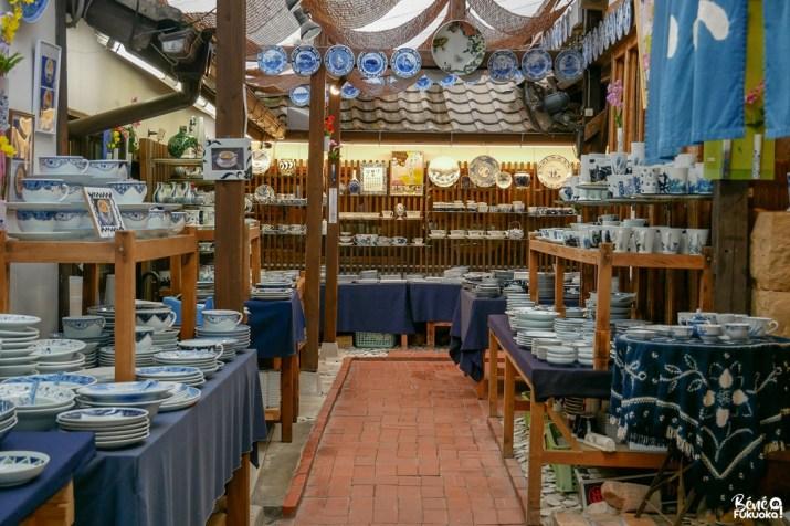 Magasin de porcelaine au village d'Ôkawachiyama